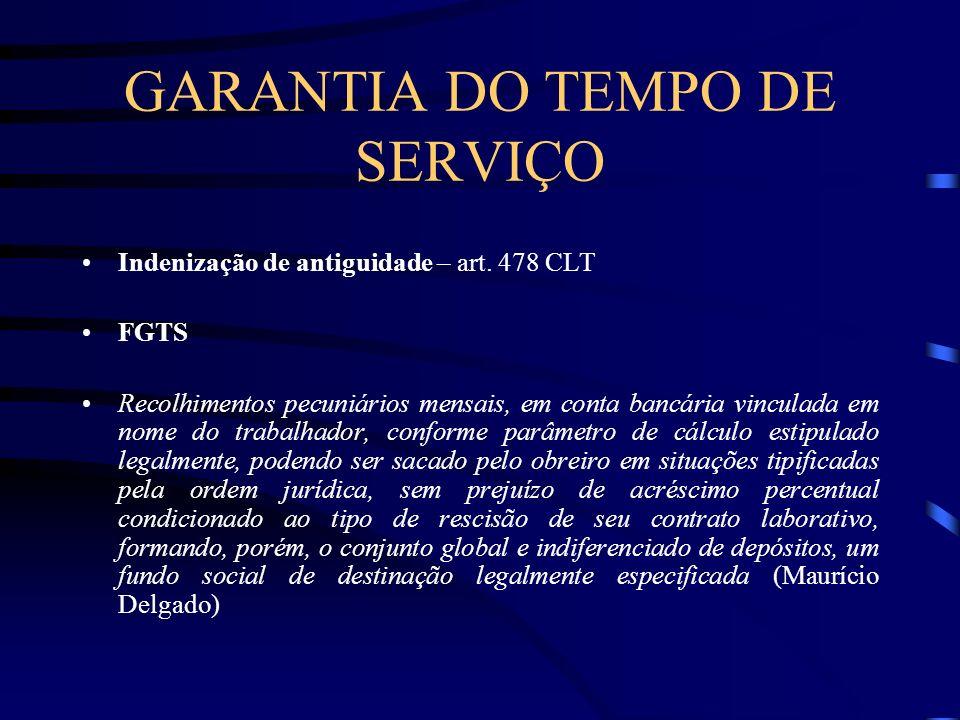 GARANTIA DO TEMPO DE SERVIÇO