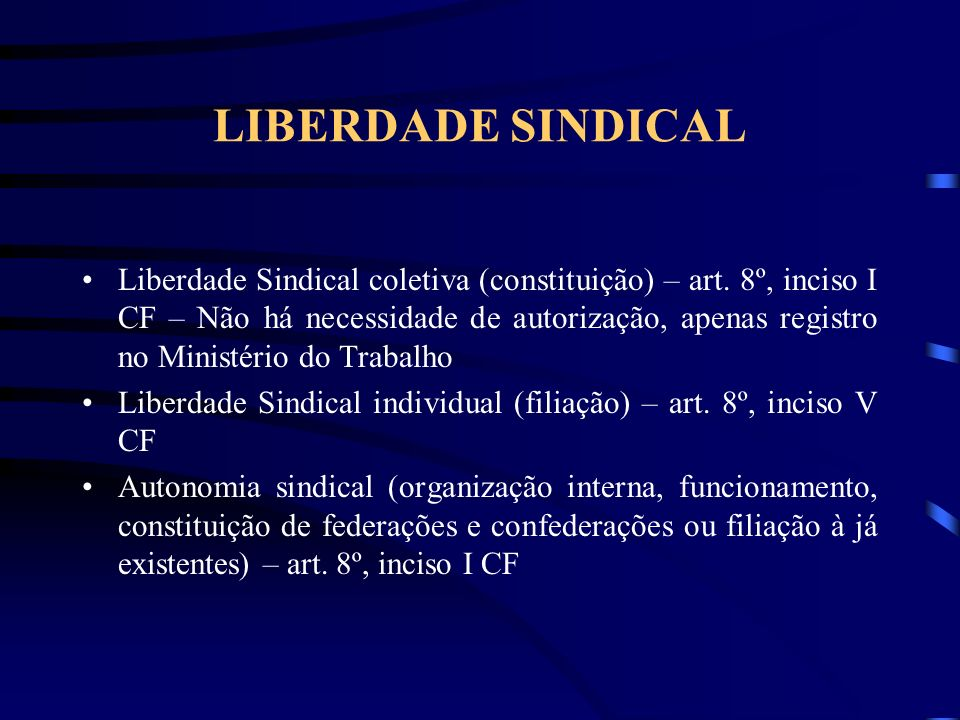 LIBERDADE SINDICAL
