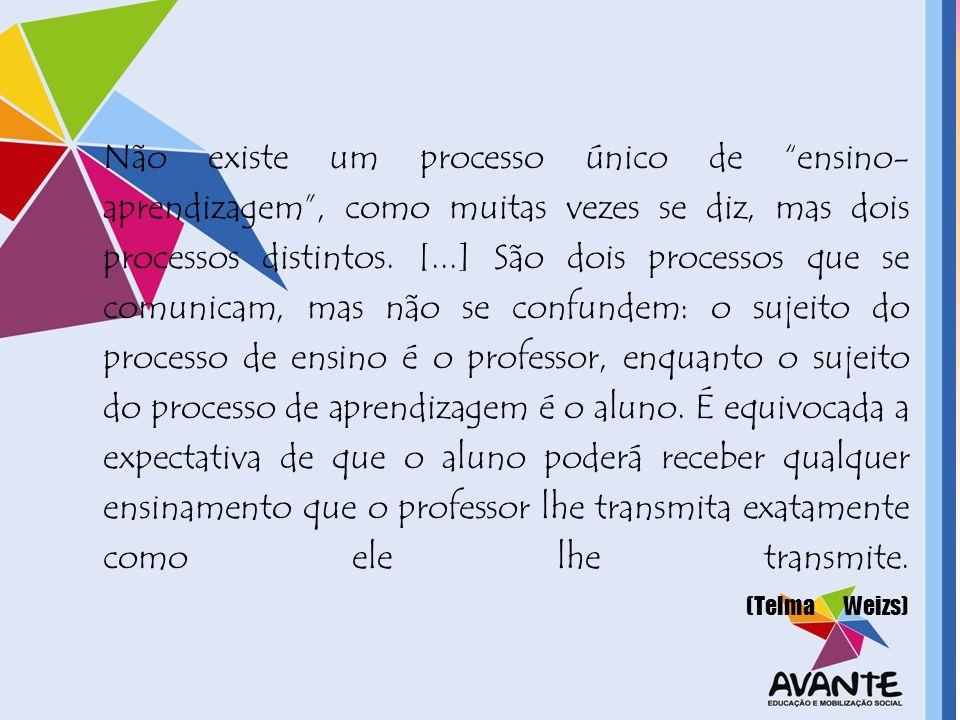 Não existe um processo único de ensino-aprendizagem , como muitas vezes se diz, mas dois processos distintos.