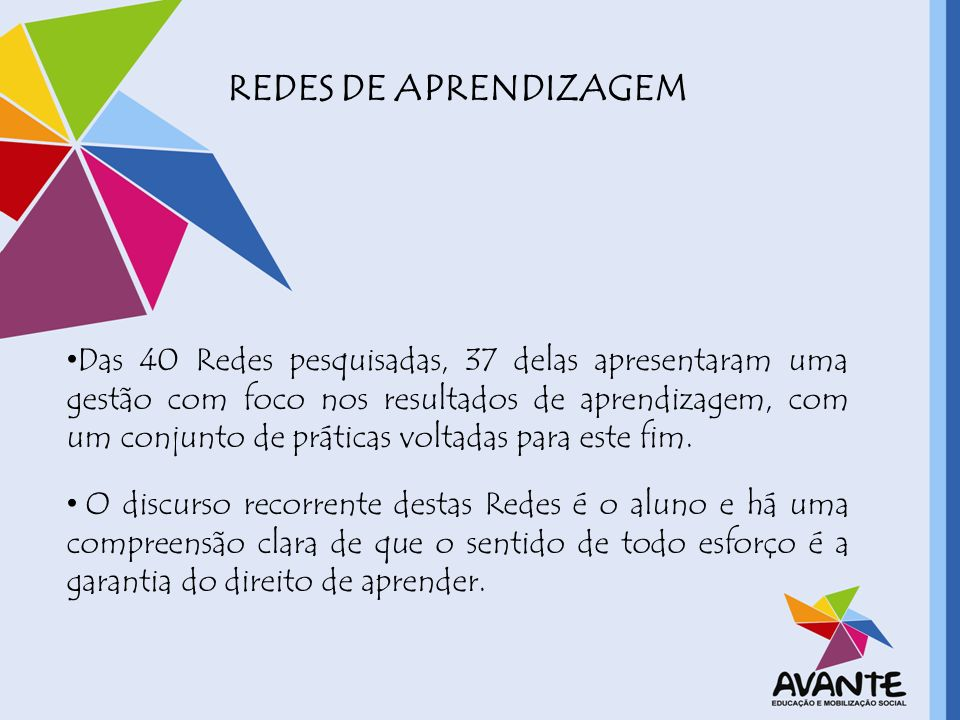 REDES DE APRENDIZAGEM