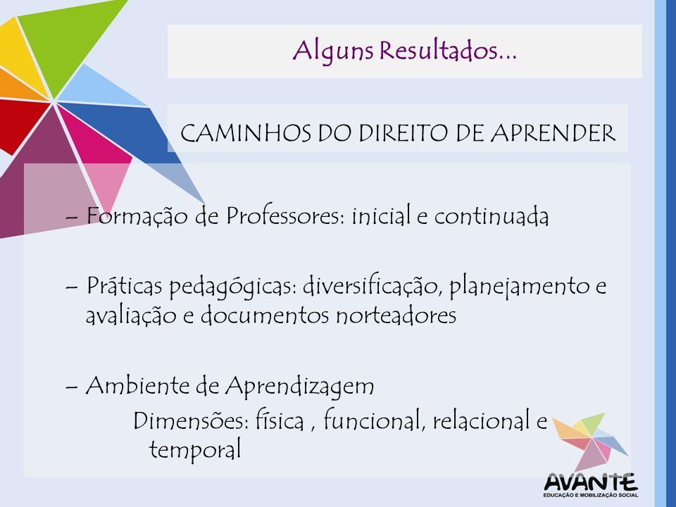 CAMINHOS DO DIREITO DE APRENDER