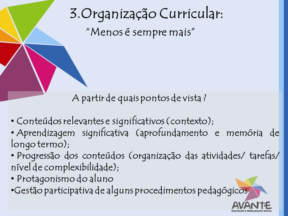 3.Organização Curricular: