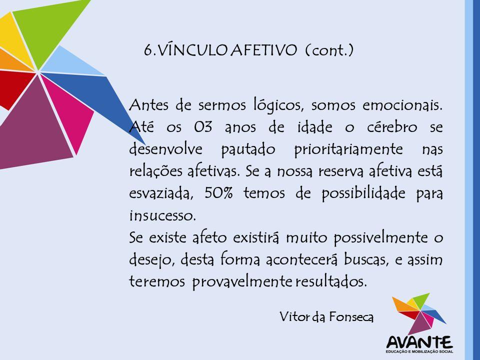6.VÍNCULO AFETIVO (cont.)