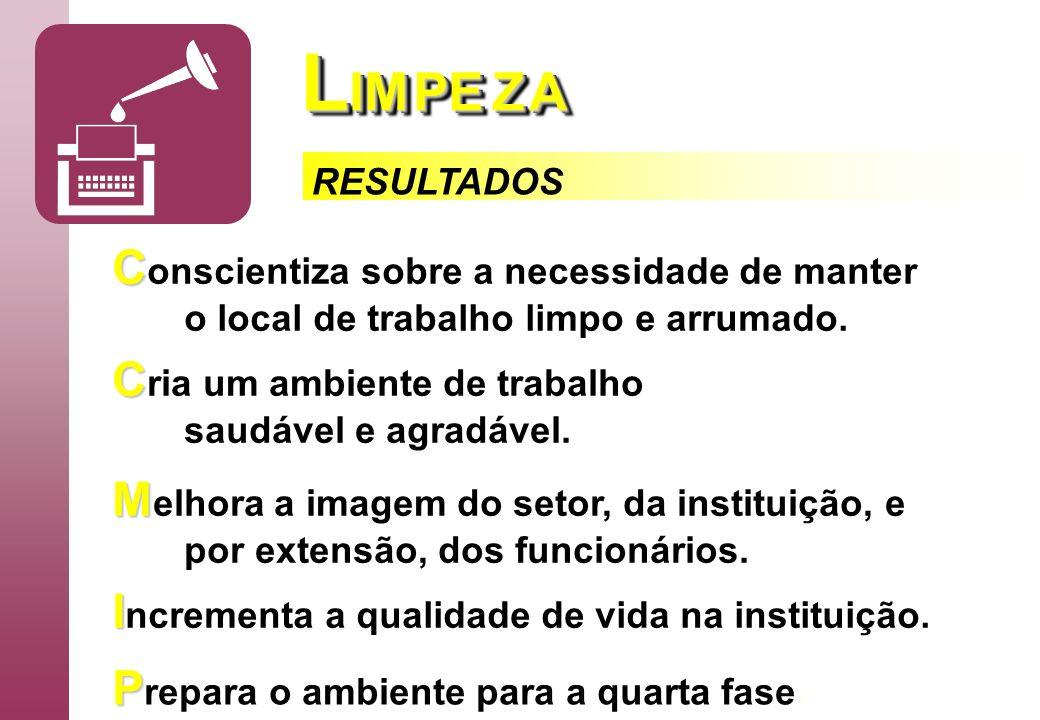 LIM PE Z A Conscientiza sobre a necessidade de manter