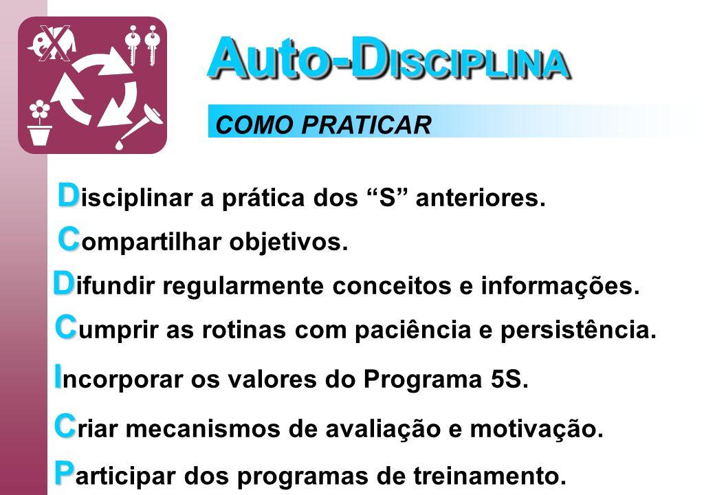 Auto-DISCIPLINA Disciplinar a prática dos S anteriores.