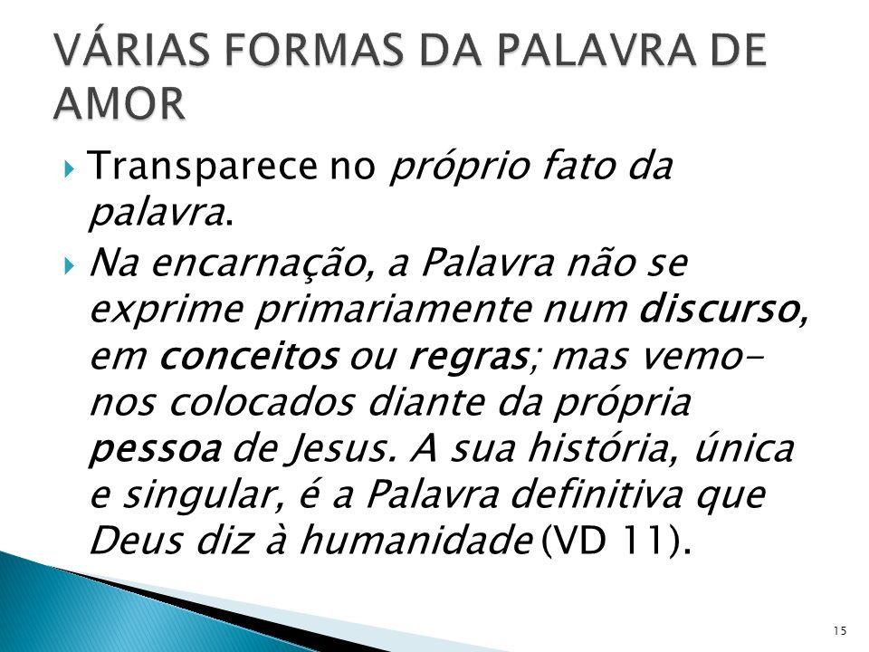 VÁRIAS FORMAS DA PALAVRA DE AMOR