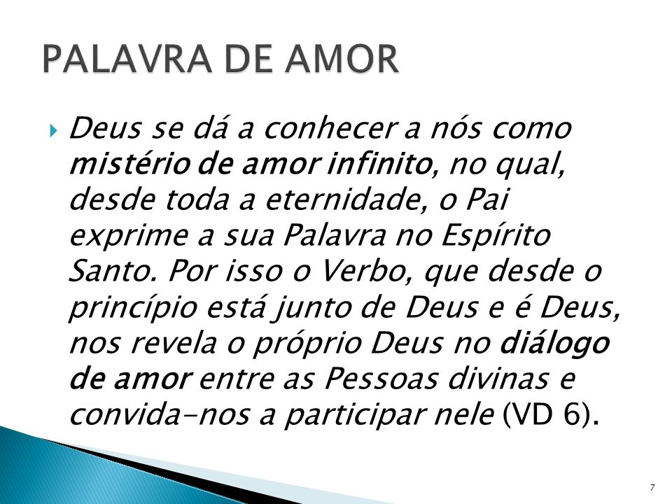 PALAVRA DE AMOR