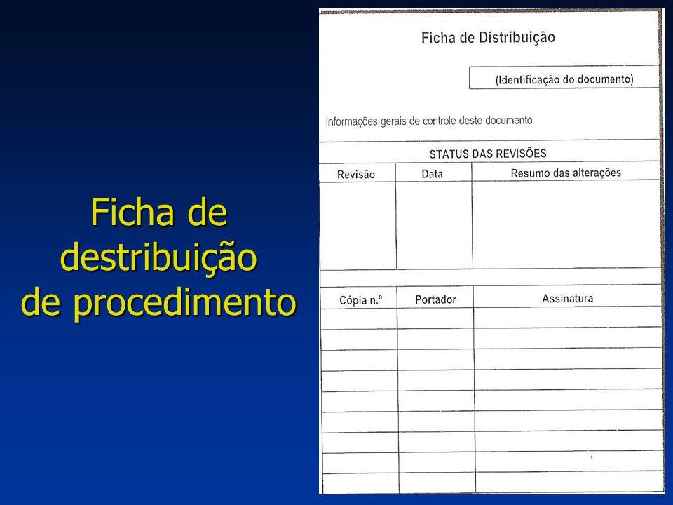 Ficha de destribuição de procedimento