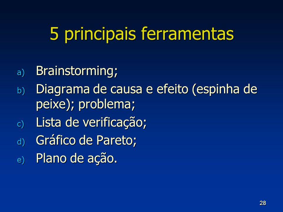 5 principais ferramentas