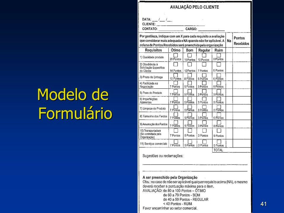 Modelo de Formulário
