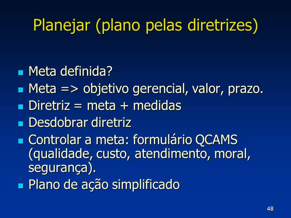 Planejar (plano pelas diretrizes)
