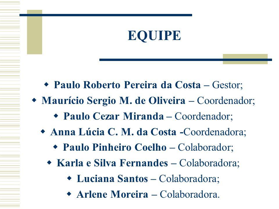 EQUIPE Paulo Roberto Pereira da Costa – Gestor;