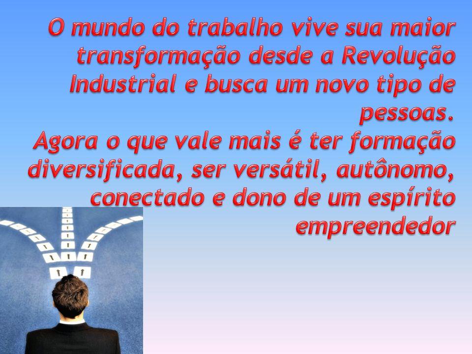 O mundo do trabalho vive sua maior transformação desde a Revolução Industrial e busca um novo tipo de pessoas.