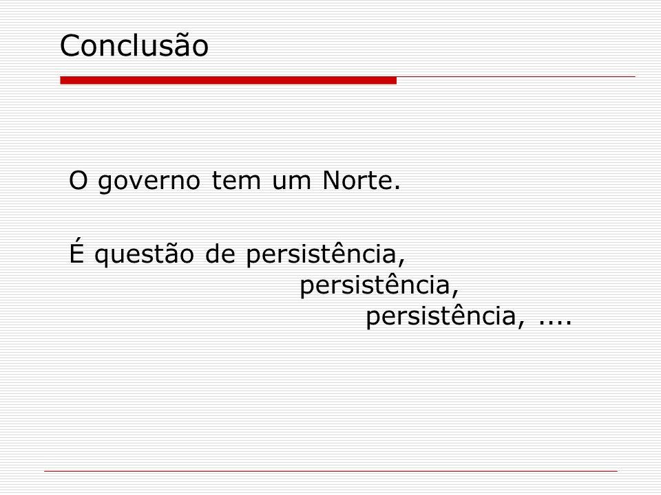 Conclusão O governo tem um Norte.