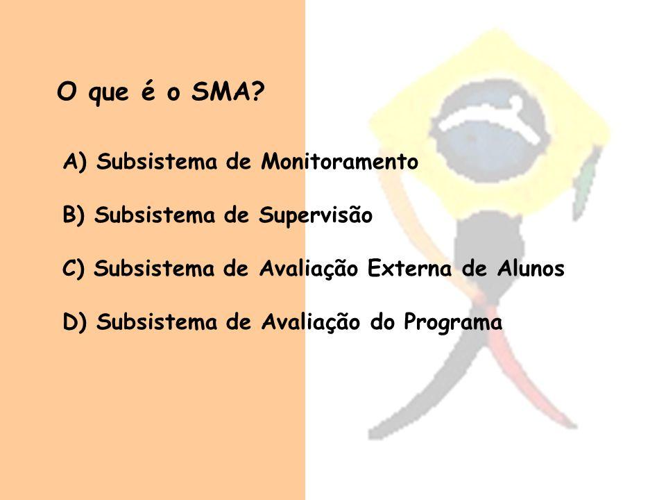 O que é o SMA Subsistema de Monitoramento B) Subsistema de Supervisão