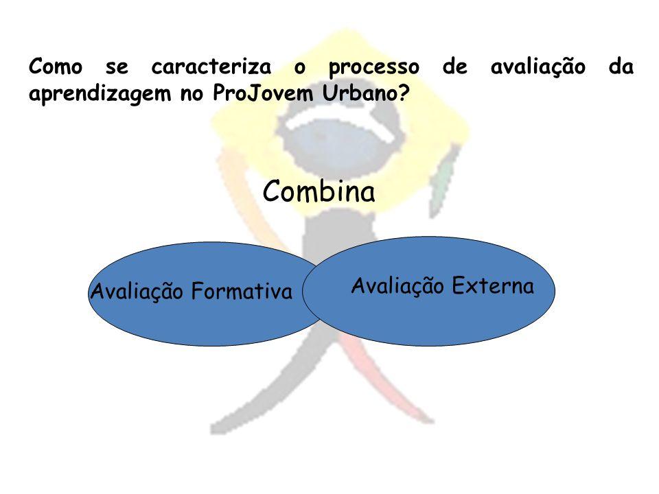 Como se caracteriza o processo de avaliação da aprendizagem no ProJovem Urbano