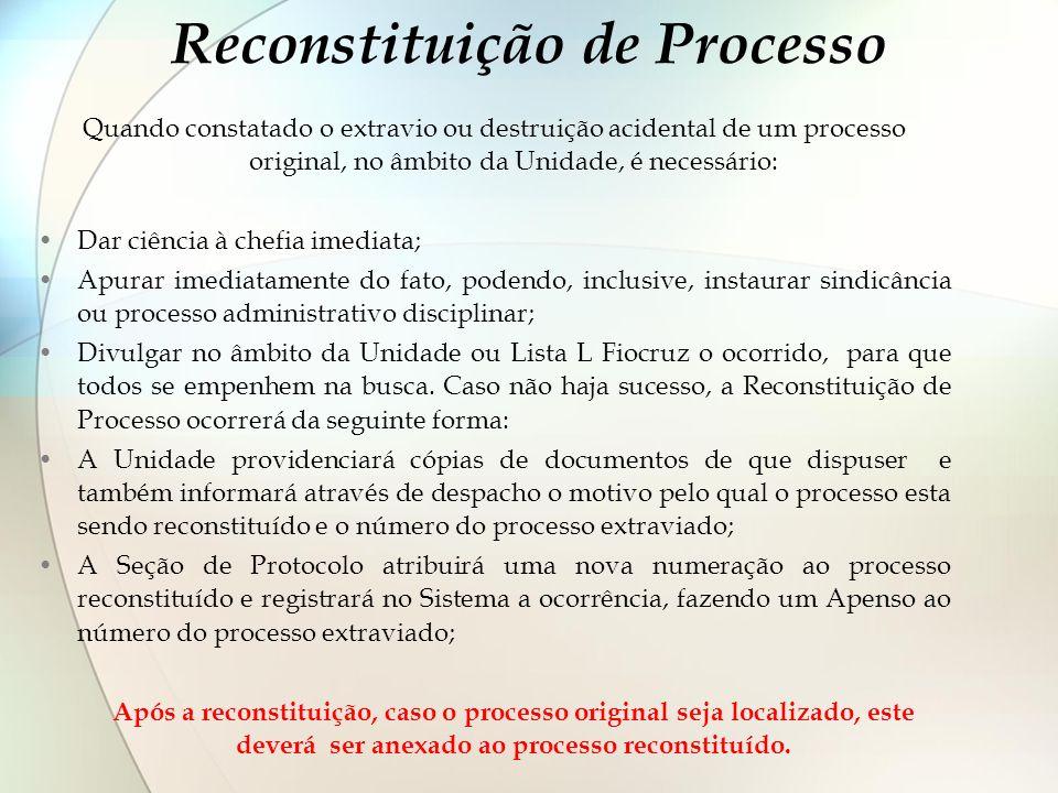 Reconstituição de Processo