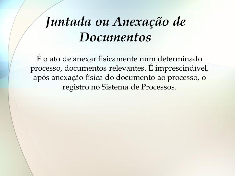 Juntada ou Anexação de Documentos