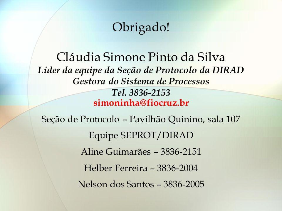 Seção de Protocolo – Pavilhão Quinino, sala 107