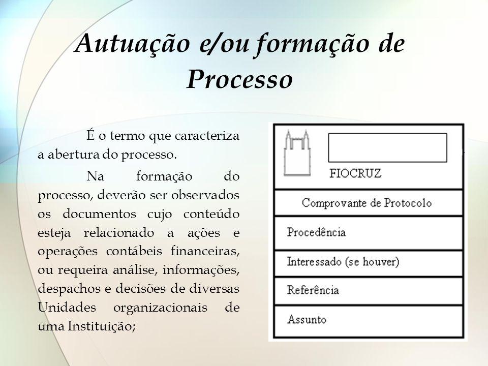 Autuação e/ou formação de Processo