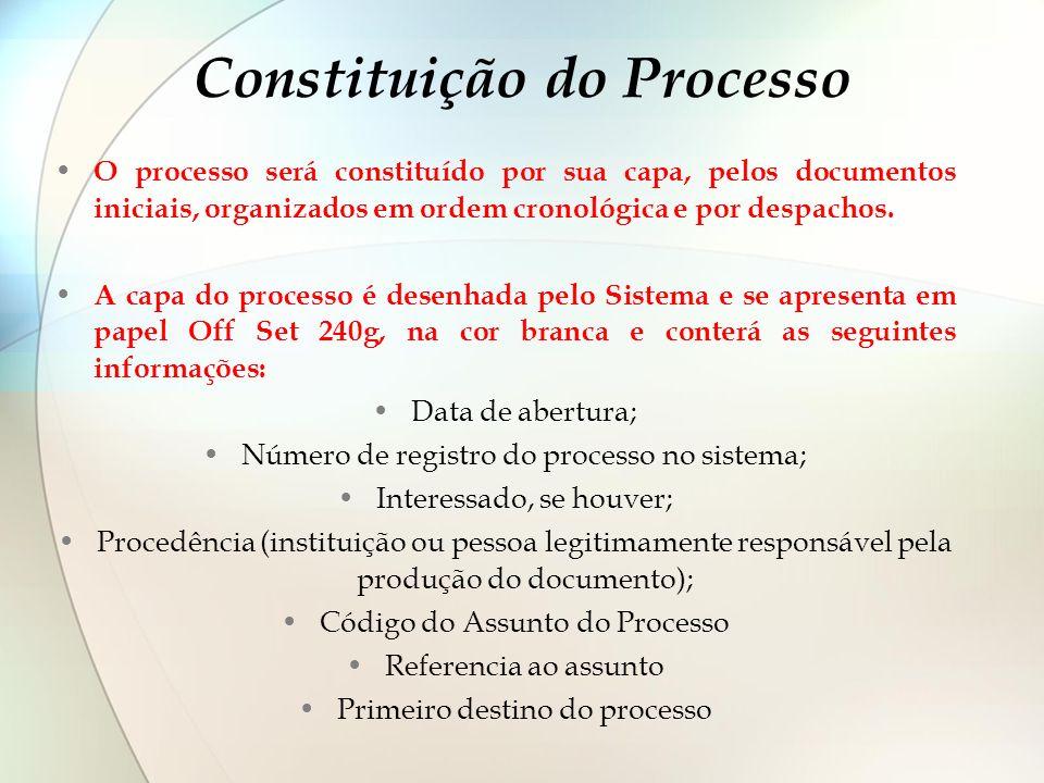 Constituição do Processo