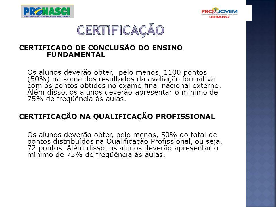 certificação CERTIFICADO DE CONCLUSÃO DO ENSINO FUNDAMENTAL