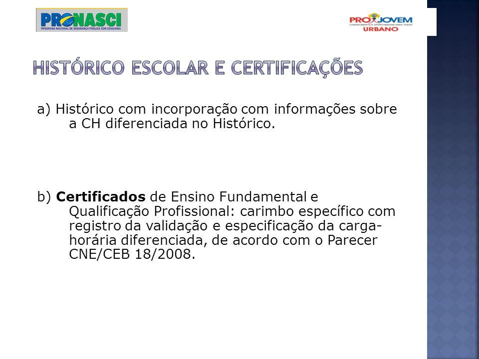 Histórico escolar e certificações