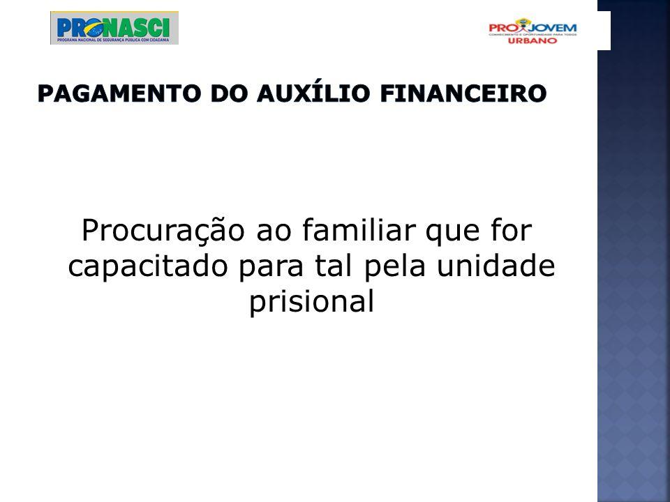 PAGAMENTO DO AUXÍLIO FINANCEIRO
