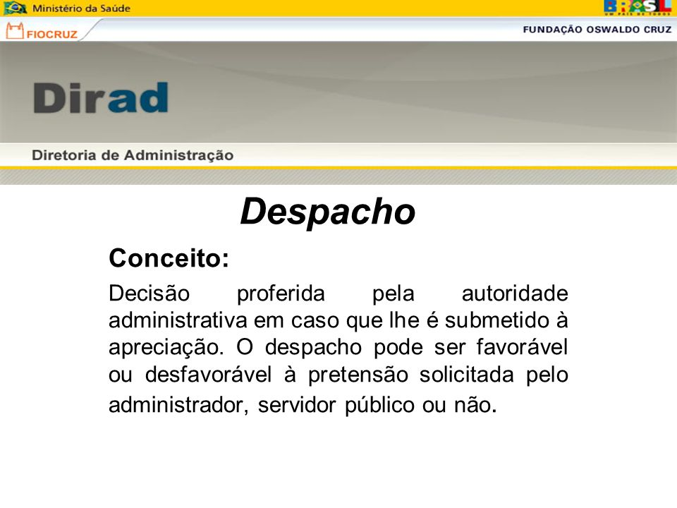 Despacho Conceito: