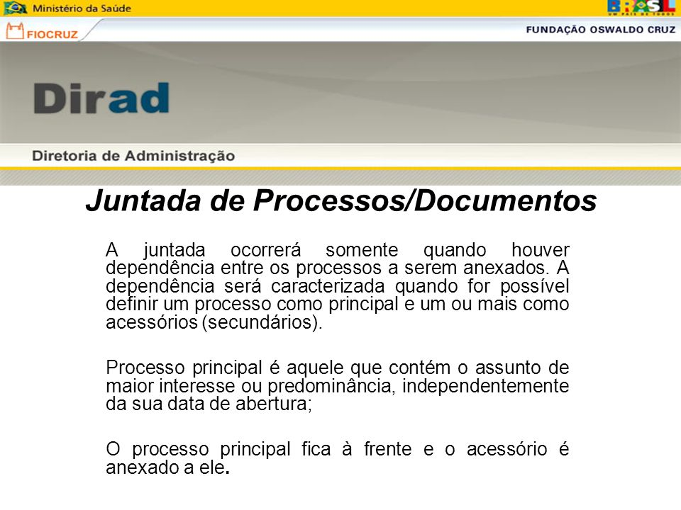 Juntada de Processos/Documentos