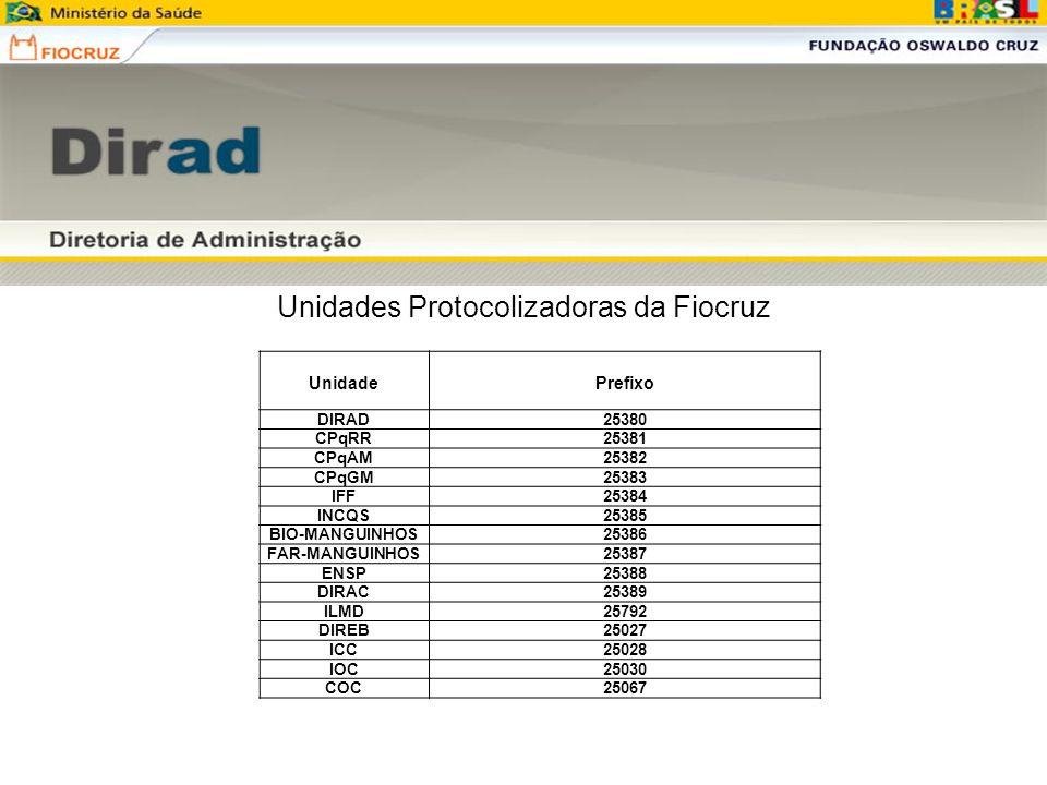 Unidades Protocolizadoras da Fiocruz