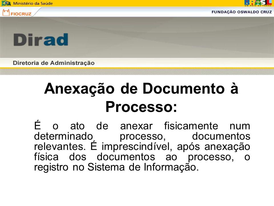 Anexação de Documento à Processo:
