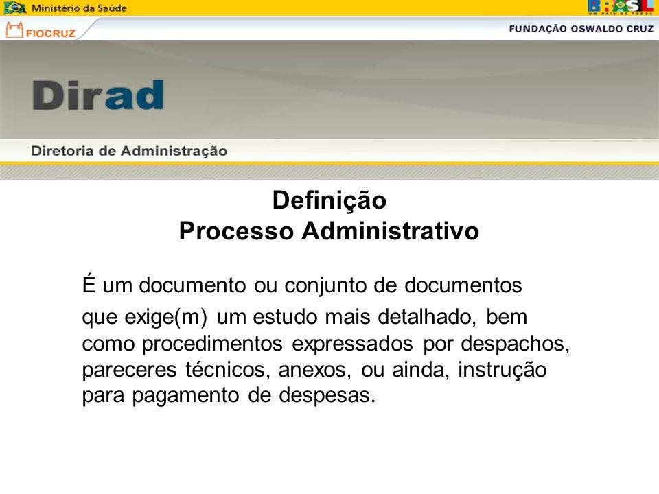 Definição Processo Administrativo