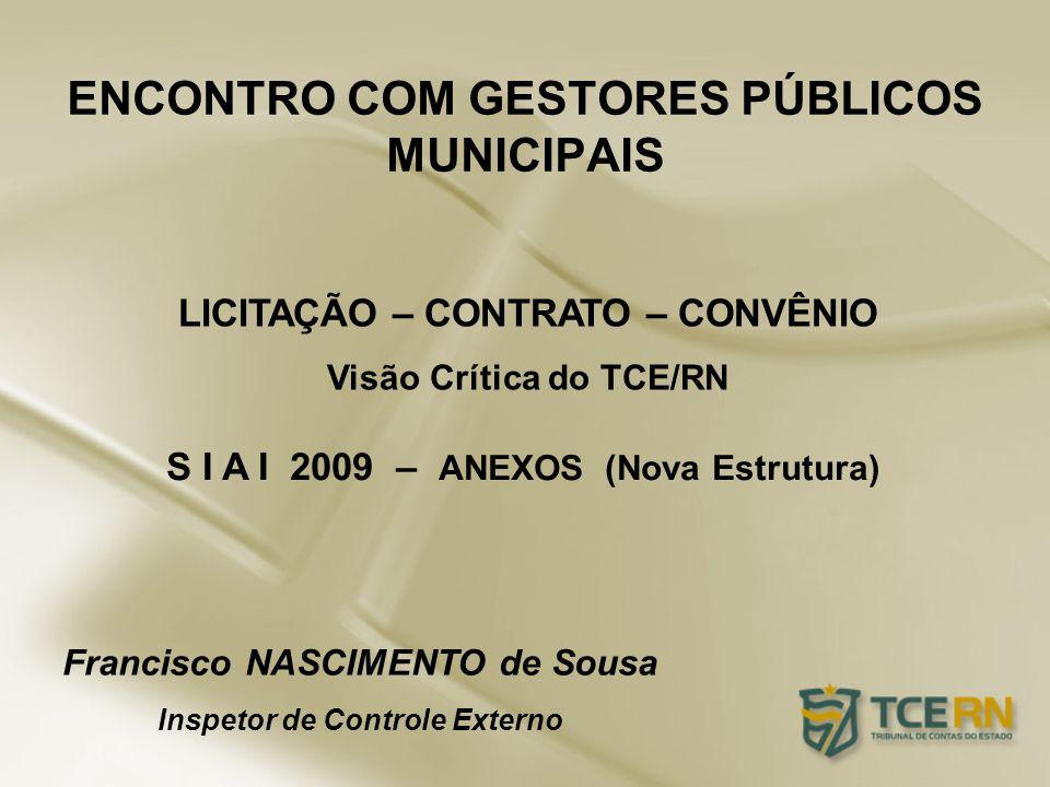 ENCONTRO COM GESTORES PÚBLICOS MUNICIPAIS