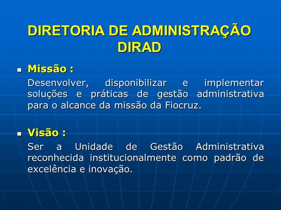 DIRETORIA DE ADMINISTRAÇÃO DIRAD