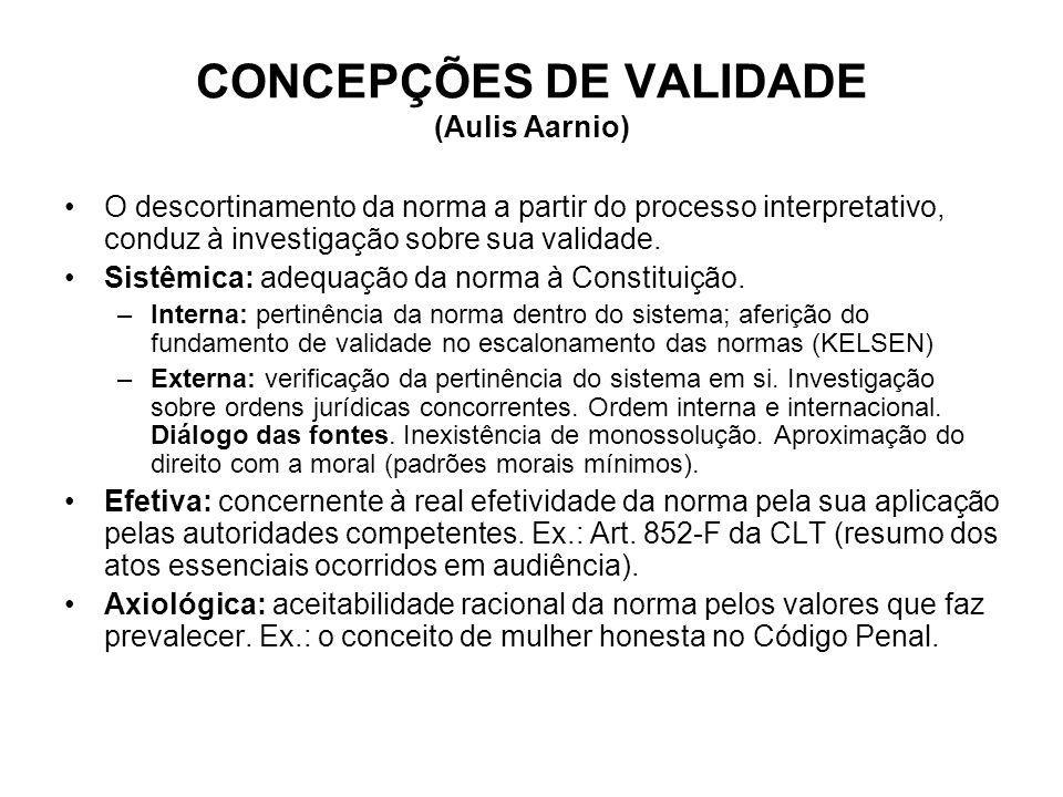 CONCEPÇÕES DE VALIDADE (Aulis Aarnio)