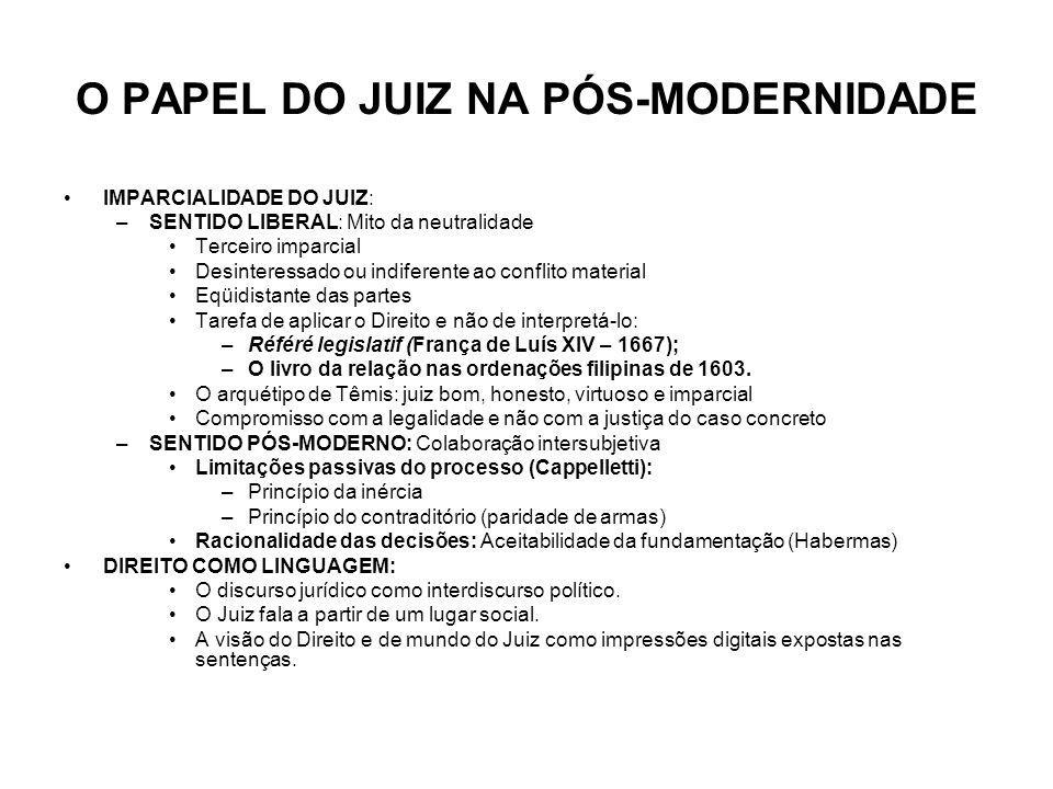 O PAPEL DO JUIZ NA PÓS-MODERNIDADE