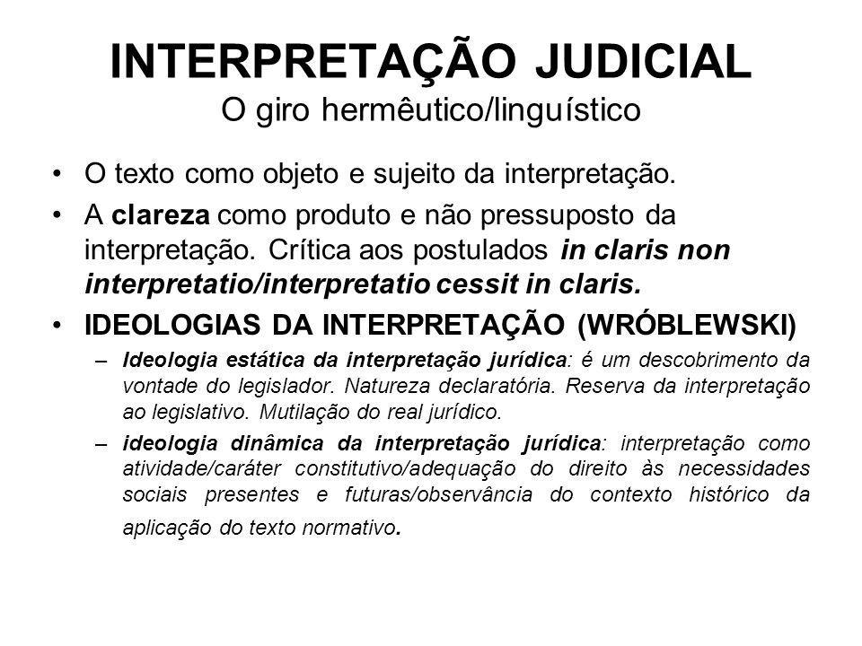 INTERPRETAÇÃO JUDICIAL O giro hermêutico/linguístico