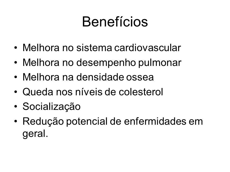 Benefícios Melhora no sistema cardiovascular