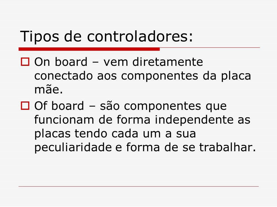 Tipos de controladores: