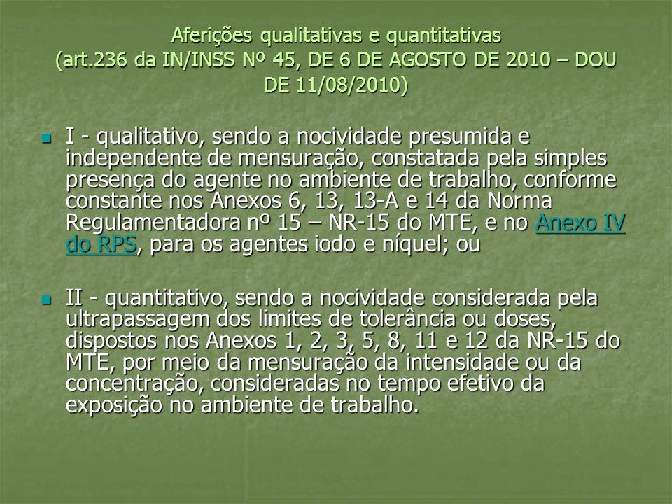 Aferições qualitativas e quantitativas (art