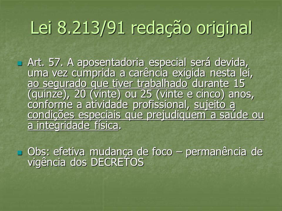 Lei 8.213/91 redação original