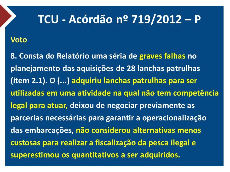TCU - Acórdão nº 719/2012 – P