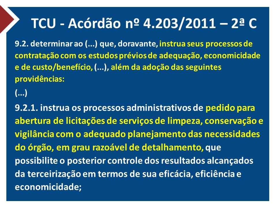 TCU - Acórdão nº 4.203/2011 – 2ª C