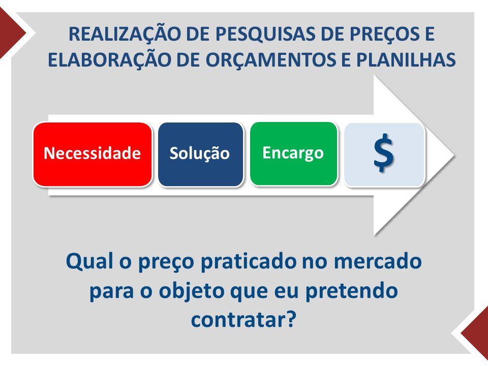 REALIZAÇÃO DE PESQUISAS DE PREÇOS E ELABORAÇÃO DE ORÇAMENTOS E PLANILHAS