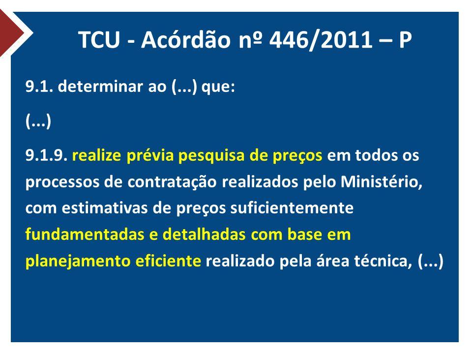 TCU - Acórdão nº 446/2011 – P