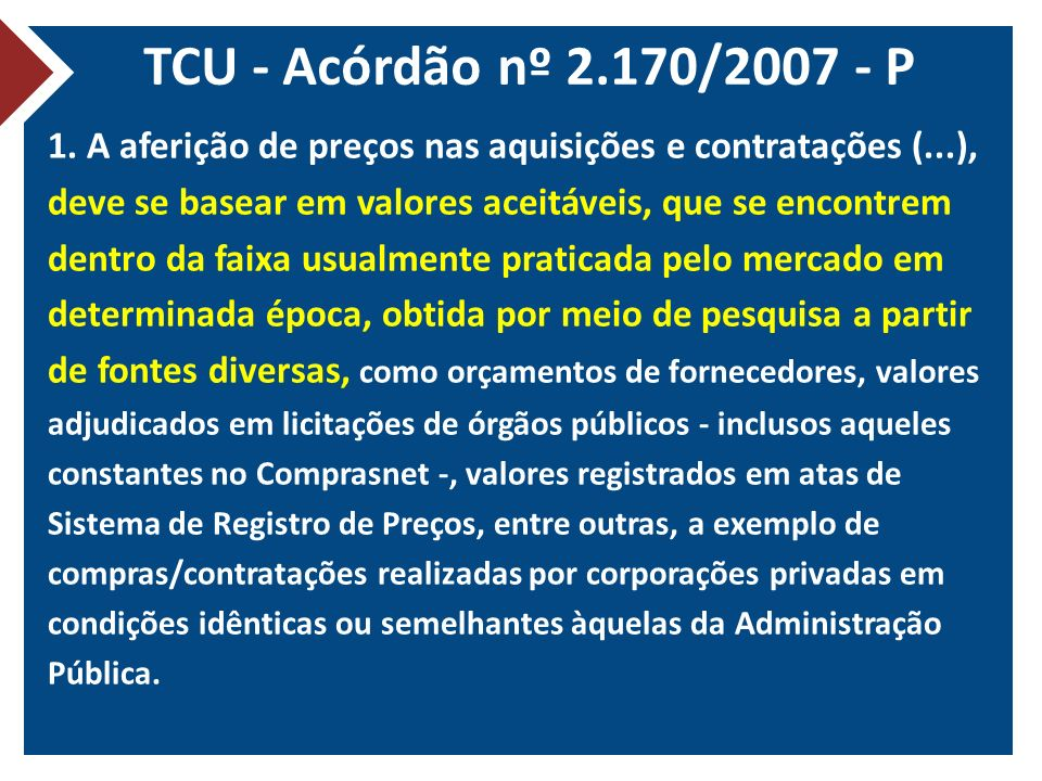 TCU - Acórdão nº 2.170/2007 - P