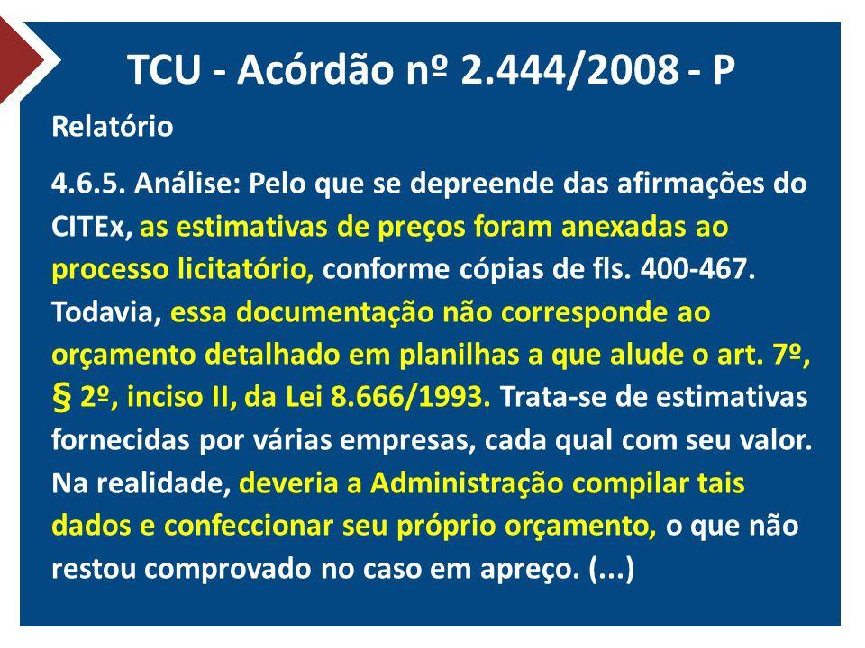 TCU - Acórdão nº 2.444/2008 - P