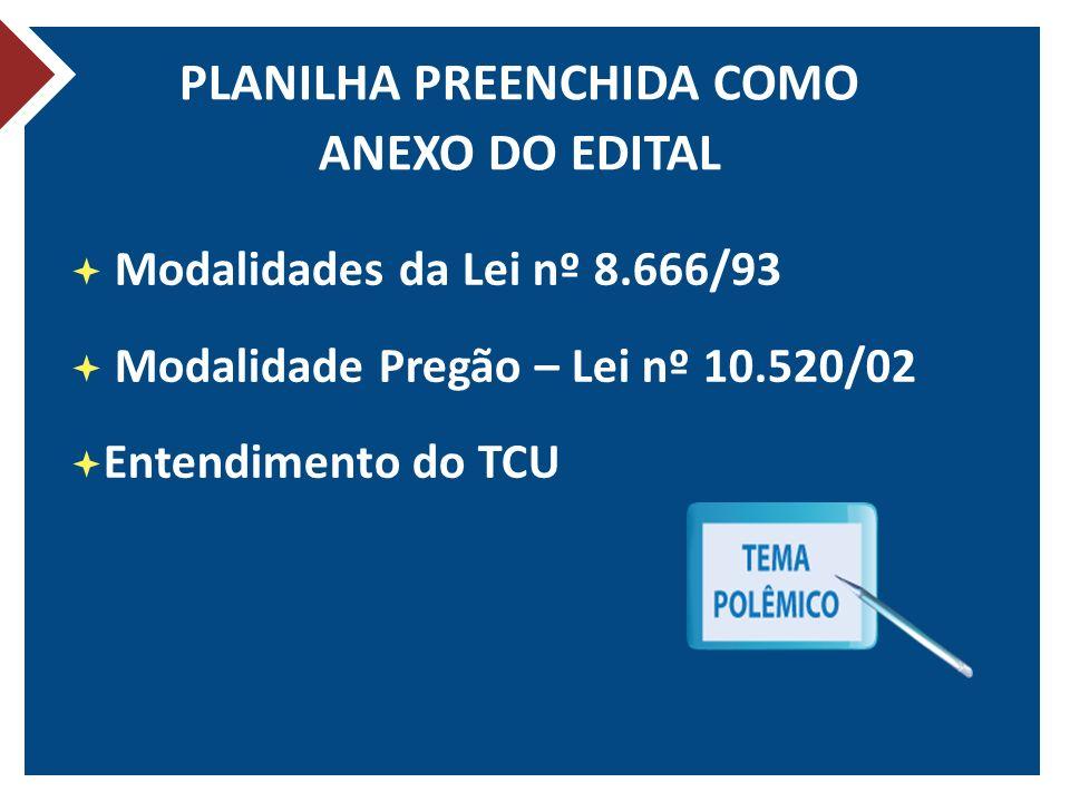 PLANILHA PREENCHIDA COMO ANEXO DO EDITAL