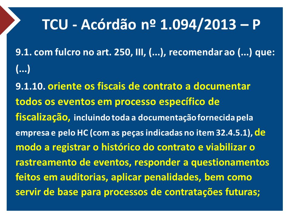 TCU - Acórdão nº 1.094/2013 – P